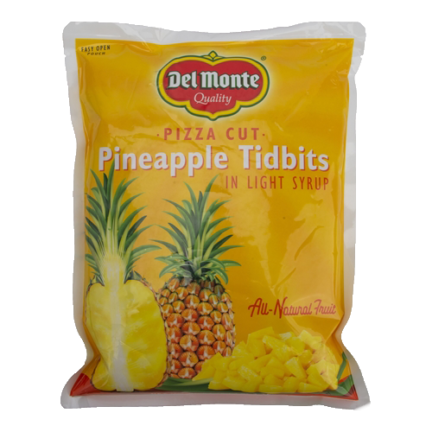 COMPLETE PACKAGING LINE FOR PINEAPPLE TIDBITS IN 2.3 KG POUCHES/BAGS DELMONTE